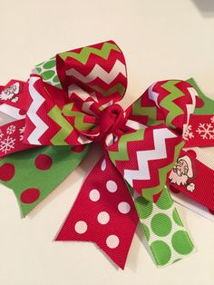 Christmas over the top bowbaby's first by MelleeAndMeBows on Etsy