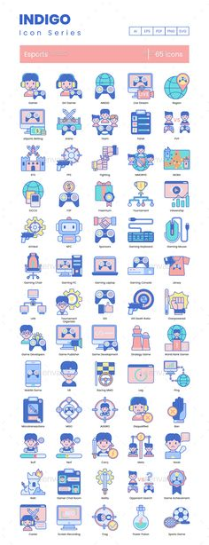 Buy eSport Icons – Indigo Series by Krafted on GraphicRiver. There's a new contender coming up in the world of sports! As popular as basketball or football, eSports has been on a. Game Icon, Icon Set, Icon Design, Design Art, Popular Sports, Custom Icons, Best Icons, Search Icon, World Of Sports