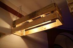 Pallet Pendant Lights - Gorgeous Wood Pallet Bar Projects | 101 Pallet Ideas