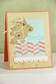 Smile Card by Erin Lincoln for Papertrey Ink (February 2014)