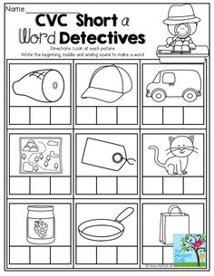 Build the CVC word -Beginning, Middle and Ending sounds! TONS of Back to School printables!