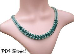 Crystal Pattern DIY Necklace Beading Tutorial Necklace