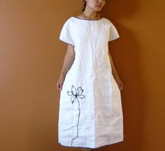 White linen dress by Anny Schoo Clothing
