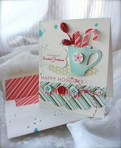 What a great card! cocoa, mug, candy canes! etc