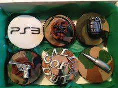 Call of Duty cupcakes  I would just have to change the ps3 to xbox