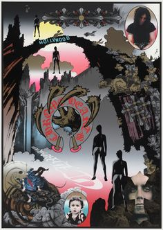Chrome Hearts by Tadanori Yokoo Art And Illustration, Illustrations, Japan Design, Collages, Collage Art, Graphic Prints, Graphic Art, Tadanori Yokoo, Japanese Poster Design