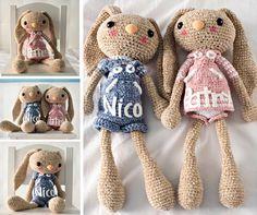 Long Eared Bunny Crochet Pattern