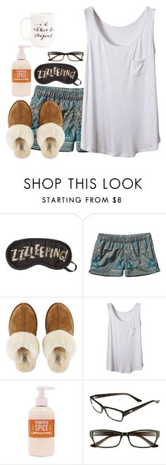 """ju suis fatigué"" by preppy-classy ❤ liked on Polyvore featuring H&M, Patagonia, UGG Australia, I.Line and Moon and Lola"