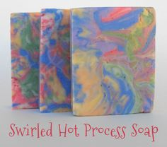Oil & Butter: Swirled Hot Process Soap