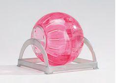 """Farvet Mus / hamsterhjul med stander """"Speed ball"""" Assorteret…"""