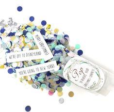 Surprise Gift Idea. Confetti Pop Reveal. Christmas Gift. | Etsy Confetti Poppers, Disneyland Christmas, Pocketfold Invitations, Paper Confetti, Xmas Presents, Surprise Gifts, Christmas Gifts, Merry, Messages