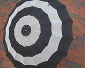 GORGEOUS Vintage Umbrella stripes and a little bit gothic Parasol photo prop. $34.00, via Etsy.