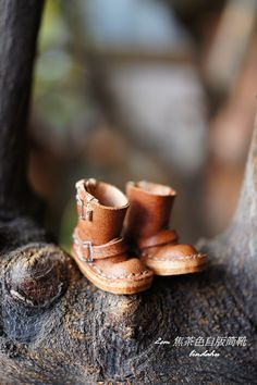 2cm 焦茶色自版筒靴