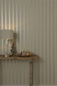 Buy Glitter Stripe Wallpaper from the Next UK online shop