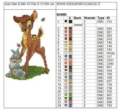 Bambi And Thumper 4 of 4 Cross Stitch Embroidery, Embroidery Patterns, Cross Stitch Patterns, Knitting Patterns, Cross Stitches, Cross Stitch For Kids, Cross Stitch Animals, Bambi And Thumper, Stitch Character