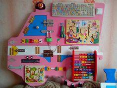 Купить Бизиборд - машинка - комбинированный, бизиборд, развивающая игрушка, развитие мелкой моторики, развивайка