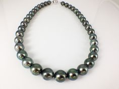 20% off Sale:  Aurora Peacock Graduated Tahitian Cultured Pearl Strand Necklace | High Quality, Excellent Luster Beautiful and Gorgeous Pearl Strand Necklace | Comes with Cert.  Very Chic, Classy Necklace