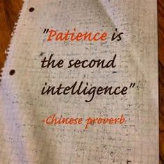 Chinese proverbs patience
