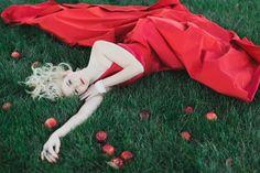 Red Romona Kaveza dress | Alea Lovely Photography | http://burnettsboards.com/2013/12/holiday-couture-smoldering-scarlet/