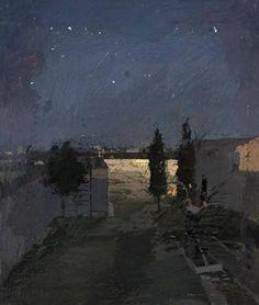 Antonio López García, Tomelloso, garden at night, 1980 on ArtStack #antonio-lopez-garcia-1 #art