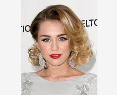 Wavy Bob Hairstyle | Miley Cyrus Glam Curly Bob Hairstyle