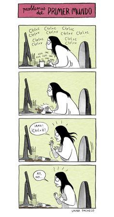 Funny Jokes, Hilarious, Spanish Humor, Tumblr Stuff, Humor Grafico, Drama Queens, First World, Illustration Art, Cartoon