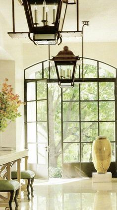 Lantern, Casement Window and Door, Black Accents
