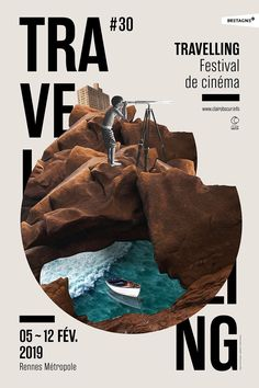 Visual and variations for the Traveling festival 2019 organized by Clair Obscur, Rennes Graphic Design Trends, Graphic Design Posters, Typography Design, Poster Designs, Mises En Page Design Graphique, Illustration Design Graphique, Poster Layout, Poster Collage, Poster Poster