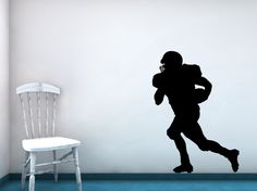 Football Player Quarterback Receiver Vinyl by VinylWallAccents, $32.00