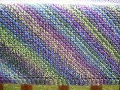 "Diagonal knit 36""square baby blanket - ravelry.com"