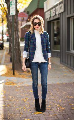 4 Tips to Style a Plaid Blazer #targetsyle #targetsgoneglam
