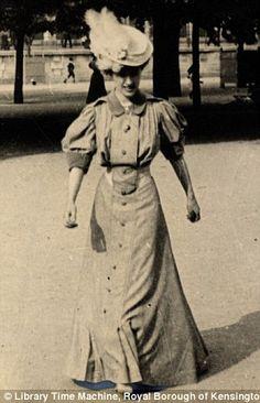 Another shot of Sambourne's friend Helen du Bois playing handball in a formal dress on 4 June 1906.