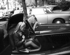 Imagen de car, black and white, and catherine deneuve