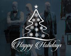Christmas Window Wall Vinyl Decal Shop by IfYourWallsWouldTalk