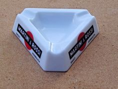 ENDING SOON!  BID NOW! Vintage Martini & Rossi Vermouth Alcohol Opalex France Tobacco Ashtray