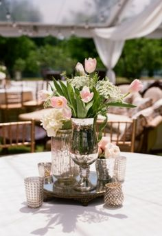 #Pink #tulips | Photo by: Olivia Griffin on Southern Weddings via Lover.ly