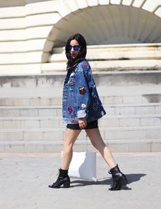 FASHION IS MY GIRLFRIEND   Fashion & Lifestyle Blog: ALL AMERICAN wearing this amazing denim jacket with patches.