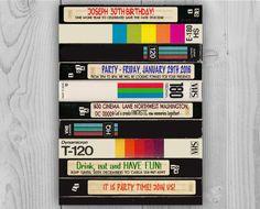 80's 90's Video Cassette Birthday Invitation by Printadorable