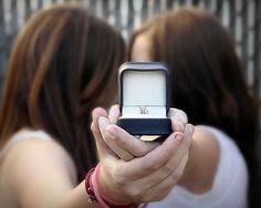 1 lesbian in love + 1 lesbian in love =2 lesbians getting  married. Nice!