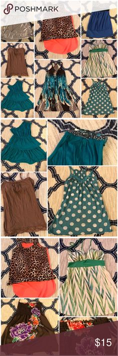 Tanks 9pc Bundle 9 tanks all size small. Gently loved but in good to excellent condition! Tops Tank Tops