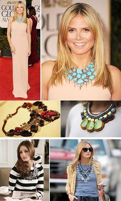 Maxi colares, é max tendência de moda!  #maxicolares #shop #brizzashop #love #follow #instagood