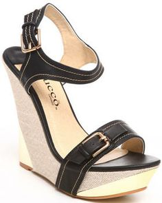 Love this Vania Wedge w/buckle detail by Fashion Lab