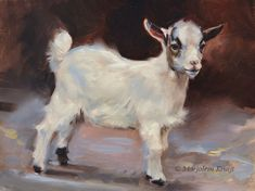 Domestic animal paintings by artist Marjolein Kruijt Goat Paintings, Animal Paintings, Animal Drawings, Bunny Painting, Painting & Drawing, Goat Art, Farm Art, Oil Painting For Sale, Baby Goats