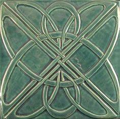 Art Deco Knot Bluegrass Tile
