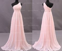 Hey, I found this really awesome Etsy listing at http://www.etsy.com/listing/157418919/long-bridesmaid-dress-pink-one-shoulder