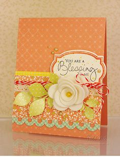Stamps: Twinkle, Turning a New Leaf, Fillable Frames, Signature Greetings (Papertrey Ink)  Paper: Green Tea Leaves (Papertrey Ink), Thrift Store (October Afternoon)  Dies - Fillable Frames (Papertrey), Scalloped Rolled Rose (My Favourite Things)