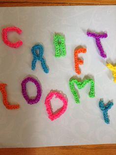 Crafty loomy letters By Crafty loomy (Youtube)