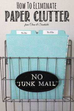 Great tips to tackle that paper clutter once and for all! // http://cleanandscentsible.com