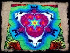 Tie dye tapestry custom Grateful Dead by GratefullyDyedDamen, $145.00