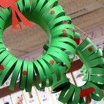 DIY Craft: Spiral Christmas Wreath